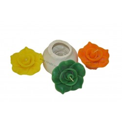 Niral Rose Flower, Silicone Floating Flower Candle Mold, Dia - 7 cm