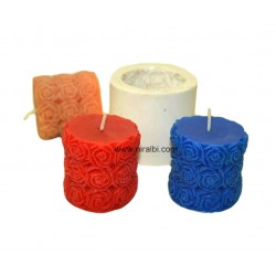 Rose Pillar Candle Mould, Niral Rubber Silicone Mold