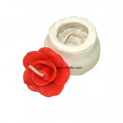T Cups Rose Silicone Candle Mould