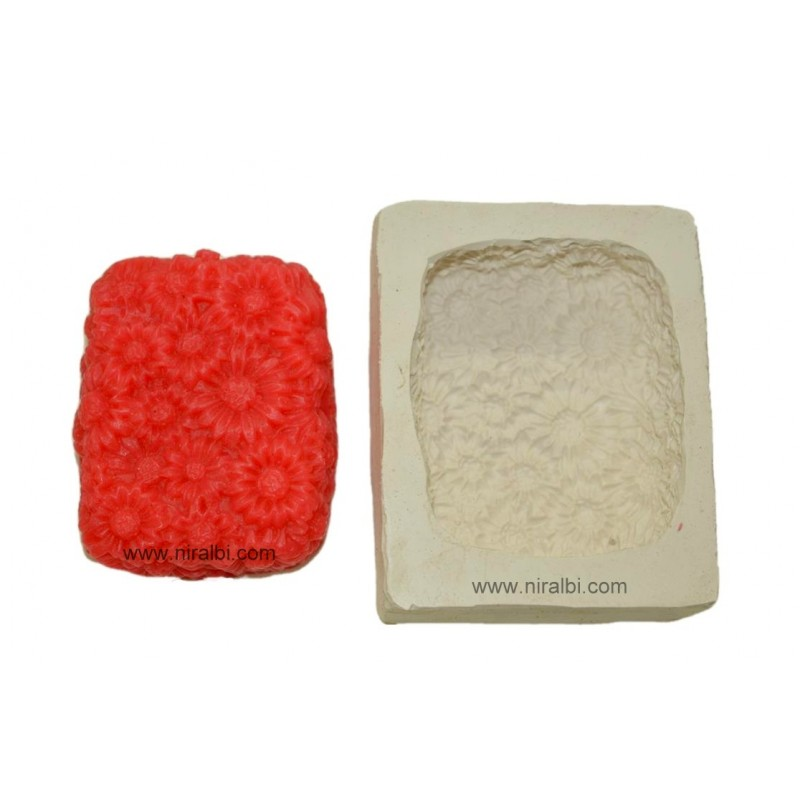 Small Sunflower Silicone Soap Mould
