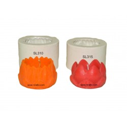 Small Lotus Silicone Candle Mold Combo Deal, Niral Industries