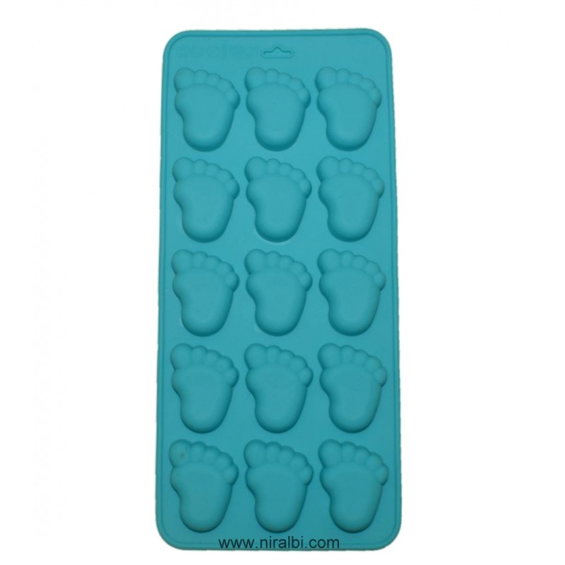 Baby Footprint Silicone Mould For Chocolate And Soap, Niral Industries
