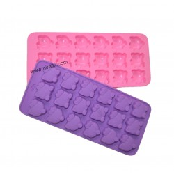 Niral Mini Kitty Face Tray Type Silicone Rubber Mold