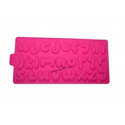 Alphabet Silicone Rubber Mold For Making Soap Or Chocolate
