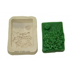 Designer Flower Rubber Soap Mould