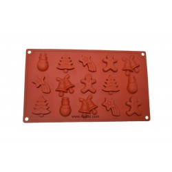 Santa Set Silicone Rubber Soap And Chocolate Mould, Niral Industries,