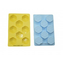 Niral 8 Cavities Designer Rubber Soap Making Mold