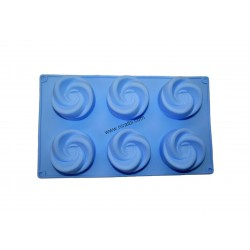 Swirl Silicone Rubber Soap Making Mold, Niral Industries