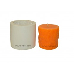 Designer Leaf 3D Silicone Pillar Candle Mould