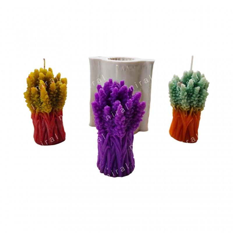 Designer Leaf 3D Silicone Pillar Candle Mould