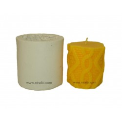 Designer Thread Pattern Silicone Rubber Candle
