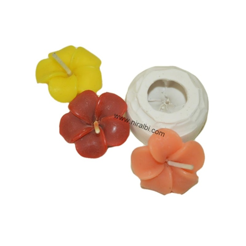 Periwinkle Designer Flower Silicone Candle Mould, Candle Weight - 8 gm