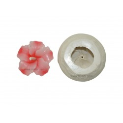 Mini Hibiscus Flower SIlicone Rubber Candle Mold