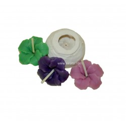 Mini Hibiscus Flower Candle Mold, Candle Wt - 6 gm
