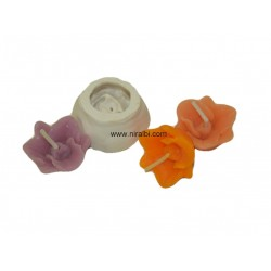 Floating Flower Candle Mould, 6 gm Candle Wt
