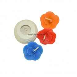 Small Floating Flower Candle Mould, 6 gm Candle Wt, Niral Industries