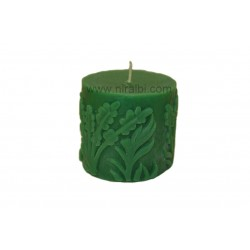 Leaf Designer Pillar Rubber Candle Mould, SL203