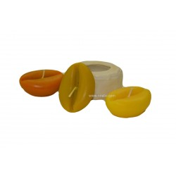 Niral Coffee Shape Silicone Candle Mould - 30 gms, Size - 6 x 4.5 x 2.5 cm