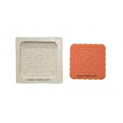Cute Designer Square Rubber Soap Mould