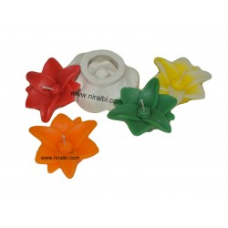 Niral Floating Flower Silicone Candle Mould, Size - 7 x 2.5 Cm