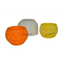Niral Designer Ball Silicone Candle Mold With Hole Pattern