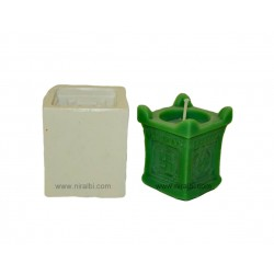 Tulsi Kyaro Diwali Festival Silicone Rubber Candle Mould