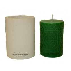 Medium Octogon Designer Silicone Candle Mould