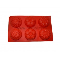 Designer Flower Niral Rubber Soap Or Cakes Making Mold,