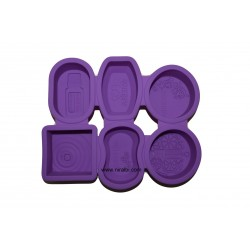 Shapes 6 Different Designer Soap Mould - Niral Industries