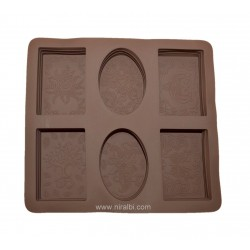 Rectangle Designer Soap Mould, Niral Industries