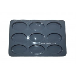 8 Cavity Plain Oval Soap Mould, Niral Industries, Soap Wt - 55 gm
