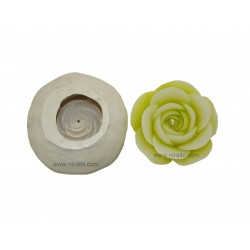 Floating Rose Flower Silicone Rubber Candle Mould