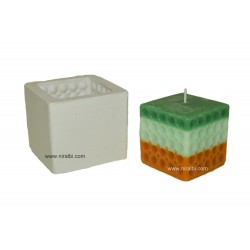 Silicone Candle Making Mold With Square Shape