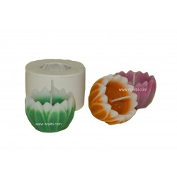 Small Hurricane Lotus Silicone Candle Making Mold