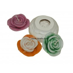 Handcrafted Floating Flower Silicone Candle Making Mold