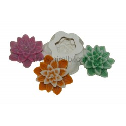 Designer Floating Flower Niral Silicone Candle Mold, Candle Wt - 40 gm