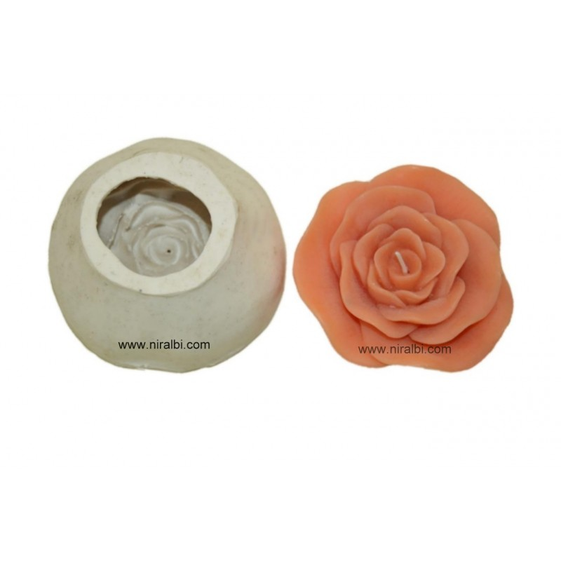 Rose Floating Flower Silicone Rubber Candle Mould