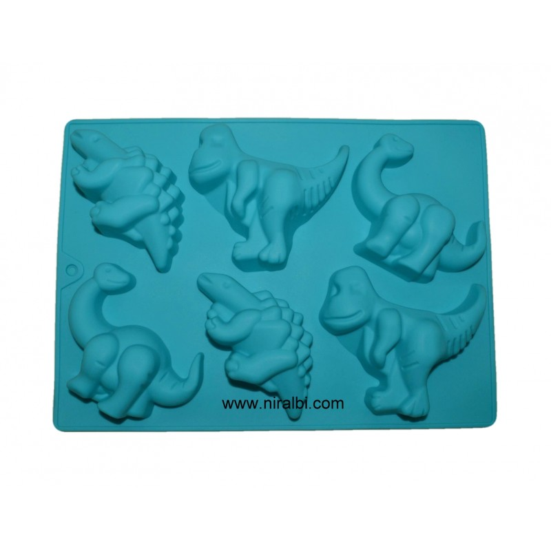 Dinosaur Silicone Rubber soap Mould, 6 cavity