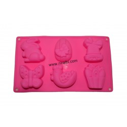 Rabbit, Butterfly Designer Silicone Soap Mould - 100 gm