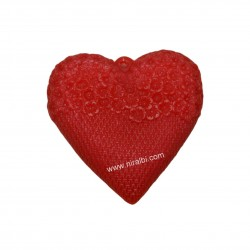 Designer Heart Rubber Soap Mould, Soap Wt - 160 gm