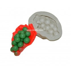 Grapes With Leaf Designs silicone soap mould