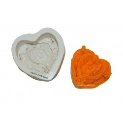 Jesus Christ Angle Baby Mother Love Design Silicone Soap Mould - 85 gm