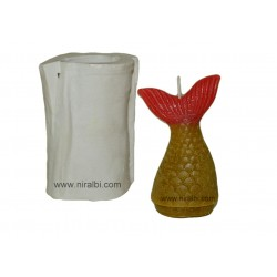 Fish Tail Rubber Candle Mould - 36 gm