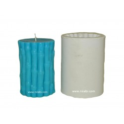 Medium Size Bamboo Stick Silicone Candle Mould - SL700 - Niral Industries - Candle wt - 266 gm