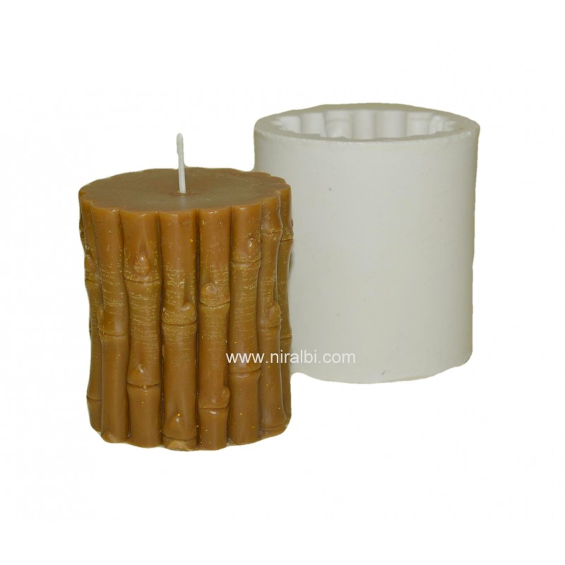 Small Size Bamboo Stick Silicone Candle Mould - Niral Industries - Candle wt - 210 gm
