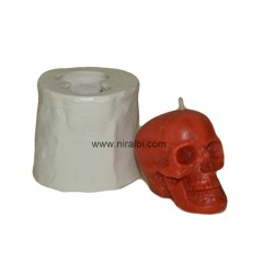 Small Skull Shape Silicone Candle Mould - 35 gm
