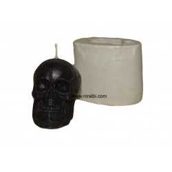 Big Skull Shape Silicone Candle Mould - 95 gm