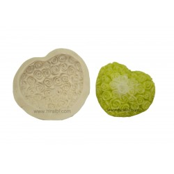 Rose Heart Rubber Candle Mould