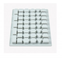 Niral Industries Geometry Shape Chunks Rubber Mould