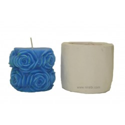 Silicone Rubber Big Rose Candle Mould
